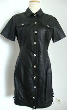 LOVE MOSCHINO Leather Lace-Up Collared Dress Damen Lederkleid Gr.38 NEU+ETIKETT
