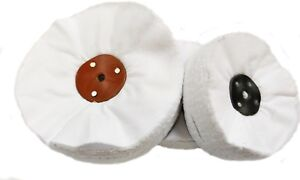 """WDR Quality Swansdown Polishing Mops 3"""" to 12"""" Many sizes  with leather centre"""