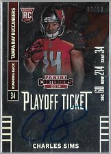 2014 Contenders Playoff Ticket Charles Sims On Card Auto Rc Serial # to 99