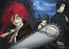 NEW Black Butler Sebastian, Grell & Ciel Wall Scroll Fabric Poster (GE-77603)