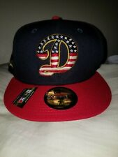 NWT New Era AAA Tulsa Drillers Dodgers Minor League 4th Of July Hat Size 7 ⅜