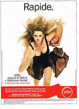 PUBLICITE ADVERTISING 104  2005  ALICE ADSL  téléphonie internet 2