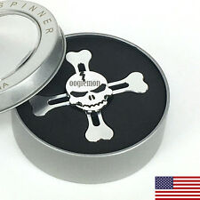 Special Skull Silver EDC Fidget Hand Spinner Desk Toy Gift for Kids and Adults