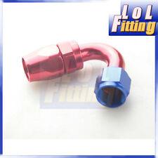 AN6 120 Degree Taper Style Swivel Hose End Full Flow Fitting Aluminum Red/Blue