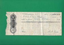 POLAND WEKSEL - URZĘDOWY BLANKIET WEKSLOWY ZA 20 Gr. - 1936  Promissory note