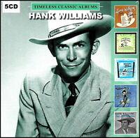HANK WILLIAMS * 5 Classic Albums * 5-CD BOX SET * 87 Original Songs * NEW