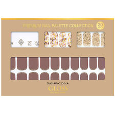 Gloss Gel Nail Strip Manicure 30 Nails Dgnp18 Marble Curtain Nail Art K-Beauty