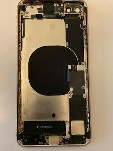 Apple iPhone 8 plus gold original frame housing for parts read camera len smudge