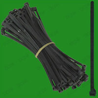100x BLACK HEAVY DUTY CABLE TIES (Pack of 100) 245mm X 5mm Zip Ties, Cable Tidy
