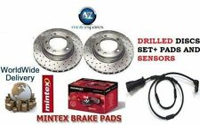 FOR MERCEDES CLS 350 350 CDi 05-10 FRONT DRILLED BRAKE DISCS SET & DISC PADS KIT