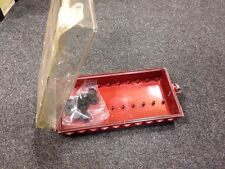 Quadro Elettrico Apri Chiudi Rosso Cassetta Modulare Sportello Trasparente