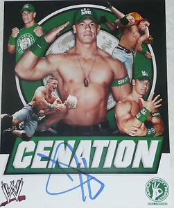 WWE JOHN CENA 11X14 INCH OFFICIAL SIGNED PHOTO AUTOGRAPH