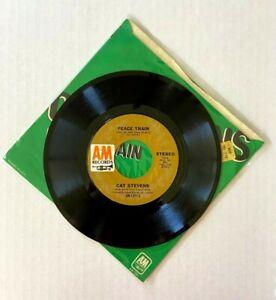"CAT STEVENS - Peace Train / Where Do The Children Pl 7"" 45RPM Vinyl Record - EX"