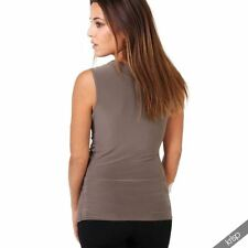 Viscose Machine Washable Solid Regular Size Vests for Women