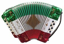 ROSSETTI ACCORDION 34 BUTTON 3 SWITCH FBbEb Fa 12 BASS ACCORDEON RED WHITE GREEN