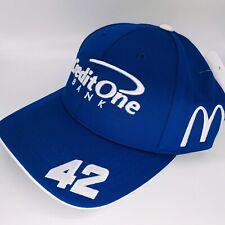 20' Larson Kenseth Credit One Hat CAP Nascar Chevy Ganassi Pit Crew Chevy Badger