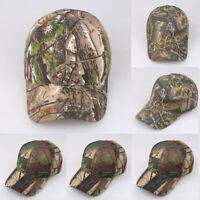 Men Camo Cap Military Hunting Fishing Hat Adjustable Army Baseball Camouflage ~