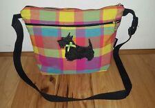 Scottie terrier dog crossbody shoulder purse DIXIE BAGS dogs plaid madras Tote