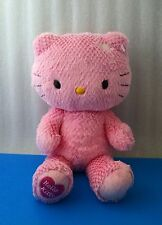 "Build-A-Bear Hello Kitty Sanrio Pink Chenille Heart 16"" Plush Valentines Day"
