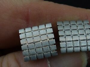 Pair Of 9ct White Gold Diamond Cufflinks London 2004 7.83g