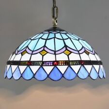Tiffany Stained Glass Pendant Lamp Mediterranean Style Art Ceiling Chandelier