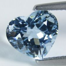 .73ct Heart Cut Light Blue Aquamarine Gemstone 6 x 6mm