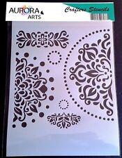 Stencil by Aurora Arts A4  esoteric mandala set 190mic Mylar craft stencil 174