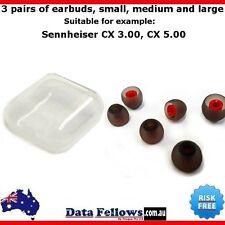 IN EAR in-ear buds replaceable Sennheiser Momentum CX 2 3.00 5.00 Black Red