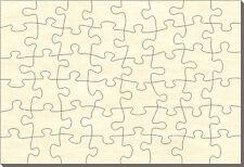 Blanko Holz-Puzzle Rechteck, 48 Teile, 28x19 cm, zum Selbst Bemalen