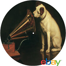 """Record Collector His Master's Voice """"Nipper"""" 7 or 12"""" inch TURNTABLE platter MAT"""
