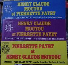 PIERRETTE PAYET ET HENRY CLAUDE MOUTOU/LES PLAY BOYS 45t FRENCH EP X3 SOREDISC