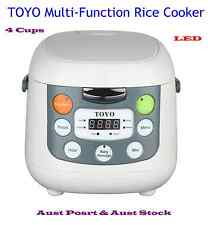 New Design TOYO Multi-function Rice Cooker with LED - 4 Cups 2L Soup, congee etc
