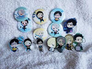Yuri On Ice Keychain & Pin Collection