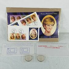 Diana Princess Of Wales Commemorative $5 Coin 1997 First Day Cover Stamp Sheet