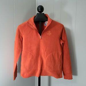 NWT Life is Good Womens Orange Fleece Quarter Zip Pullover Size Small