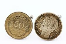 Gemelos moneda Auténtico Francia 50 céntimos Morlon
