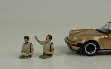 Sheriff Policía COP Juego 2 Sentado 1:24 Figura Figurines American Diorama