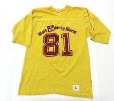 80s True Vintage WALT DISNEY WORLD #81 Yellow Graphic T-Shirt Size Large (42-44)