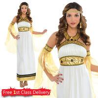 Ladies Divine Goddess Costume Adult Greek Outfit Roman Toga Fancy Dress UK 8-20