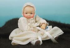 "Vintage Cameo Doll 15"" Miss Peep New Born Baby Vinyl Squeaks Hinged Limbs Works"