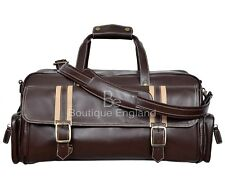 Leather Weekend Bag Brown Travelling Luggage Holdall Sports Classic Bag 9225
