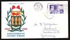 Kanada 304 FDC-Saskatchewan, 50 Jahre Provinz Saskatchewan