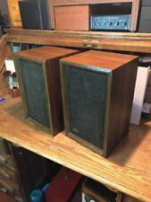 Vintage Sony Pair Bookshelf Wall Stereo Speakers SS-510