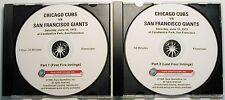1972 Cubs vs Giants Complete TV game Fergie Jenkins vs Steve Stone on DVD!