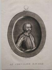 Aquatinte, Portrait du Chevalier Bayard, par