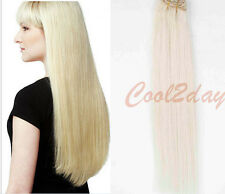 "15"" 18"" 20"" 70g Full Head Clip In 100% Remy Human Hair Extensions Hair Weft New"