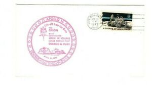 1972 USA - APOLLO 16: LIFT OFF FROM THE MOON - FDC FROM COLLECTION 8C/11