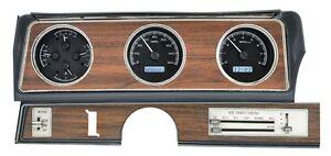 1970-72 Oldsmobile Cutlass Dakota Digital Black Alloy White VHX Analog Gauge Kit