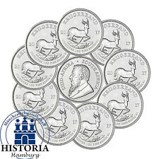 10 x South Africa 2017 Krugerrand PU - 1oz Premium Uncirculated Silver Coins