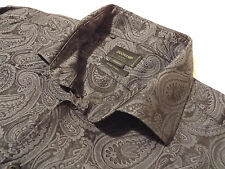 "DUCHAMP Mens Shirt 🌍 Size 19"" (CHEST 56"") 🌎 RRP £145+📮 COOL FLORAL JACQUARD"